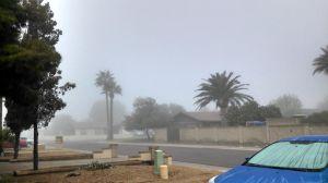 SuperBowl morning fog